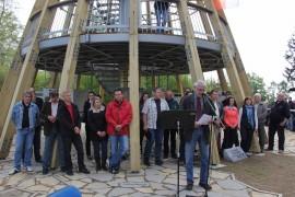 Zdeněk Eichler, starosta Městyse Divišov hovoří k shromáždění